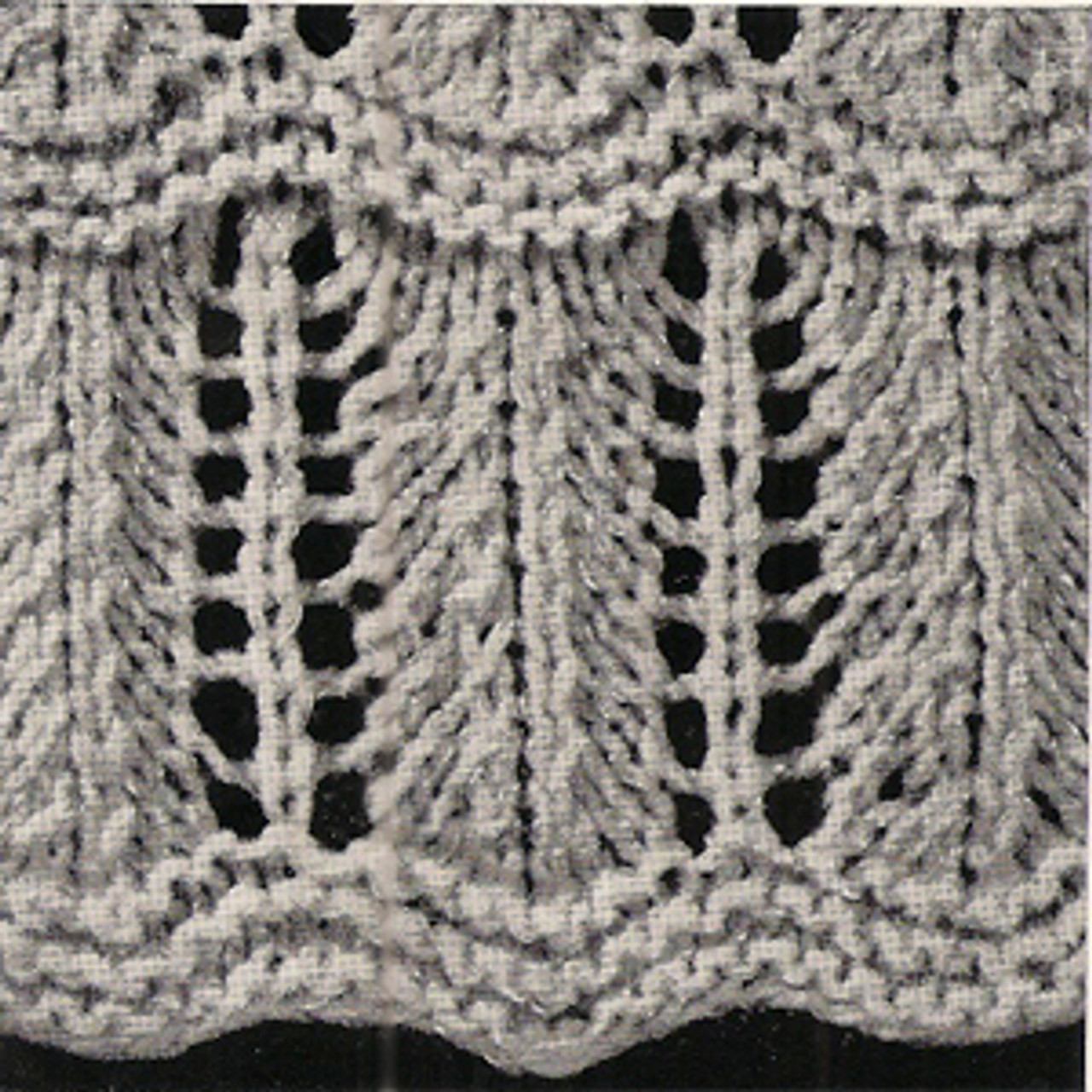 Elegant Knitted Shawl Pattern with Fringe