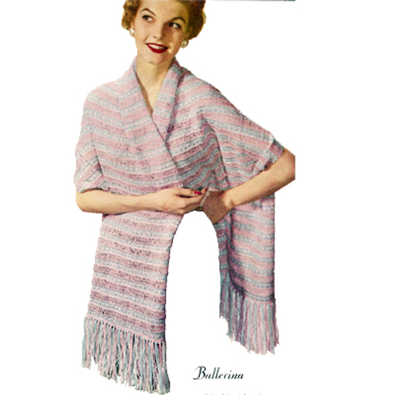 Easy Striped Stole Knitting Pattern