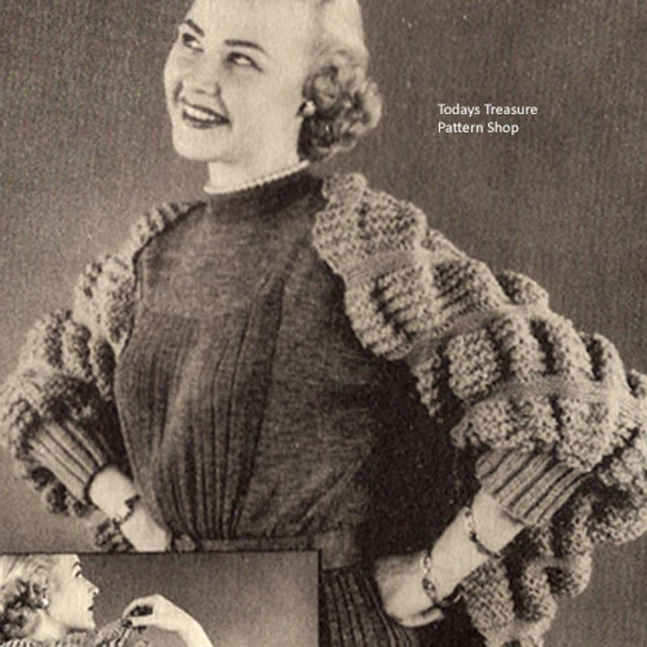 Vintage Shoulderette Knitting Pattern