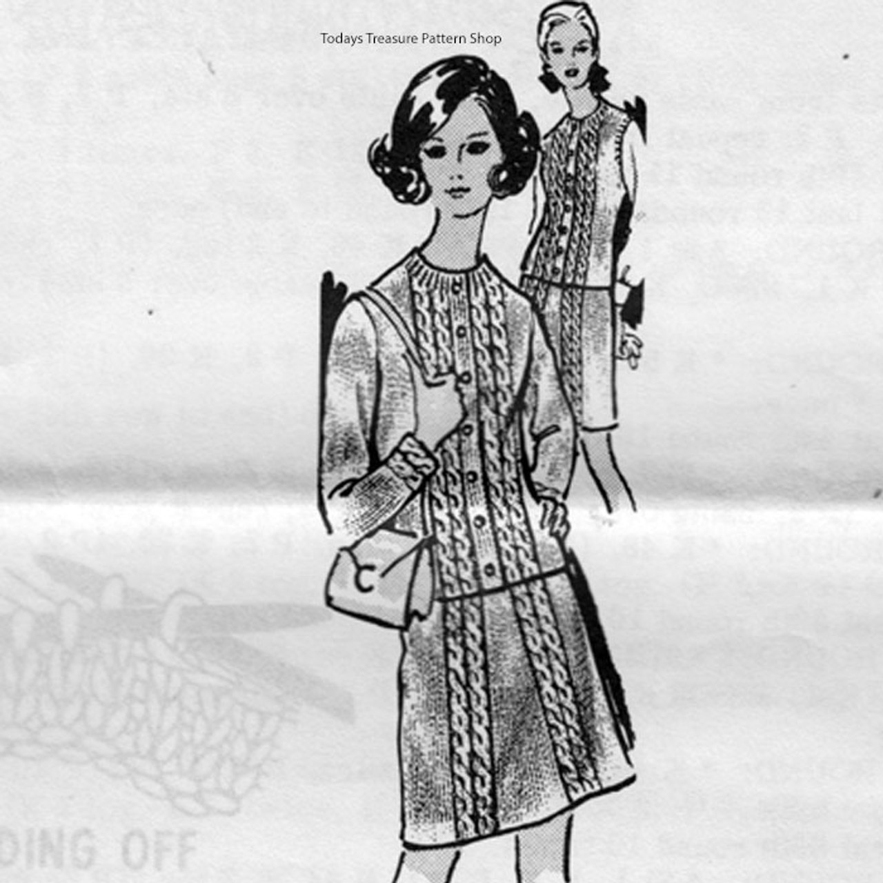 Knitting Pattern Jacket Skirt Suit Combination