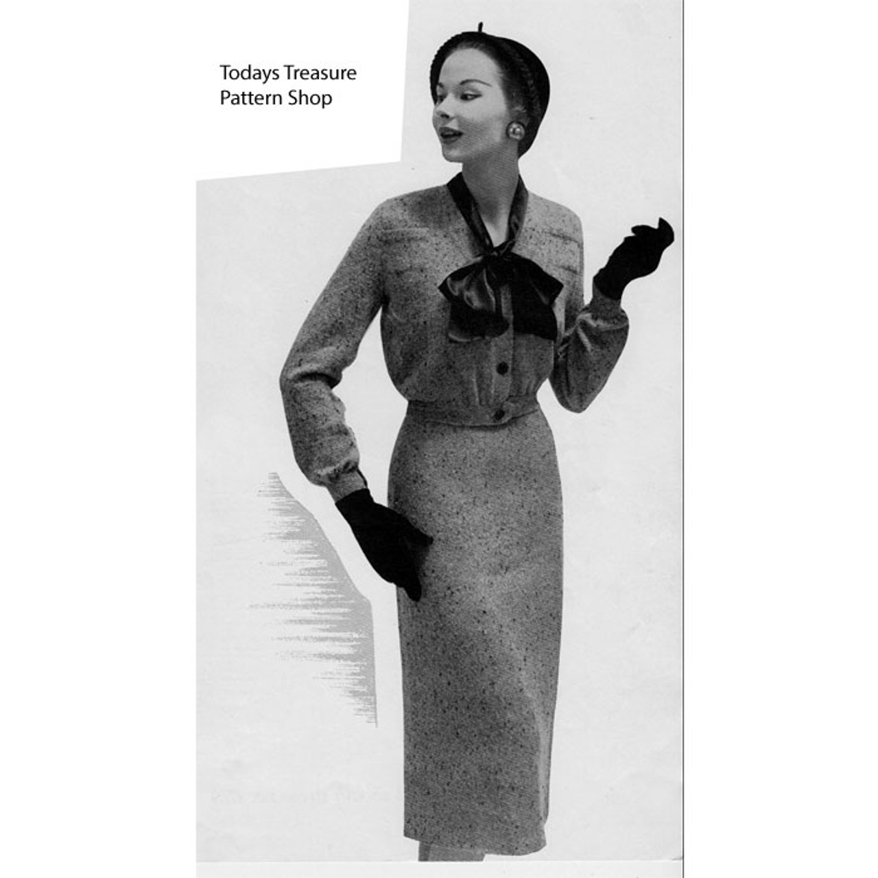 Vintage Fitted Suit Knitting Pattern