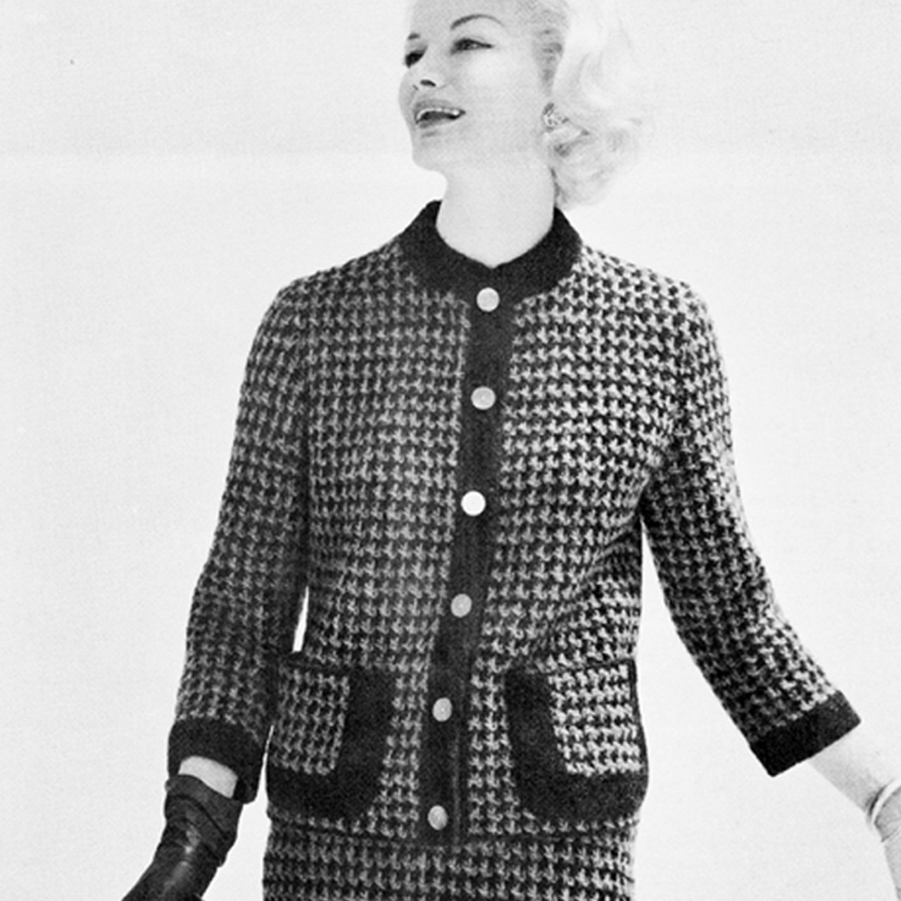 Checked Suit Knitting Pattern, Vintage 1950s
