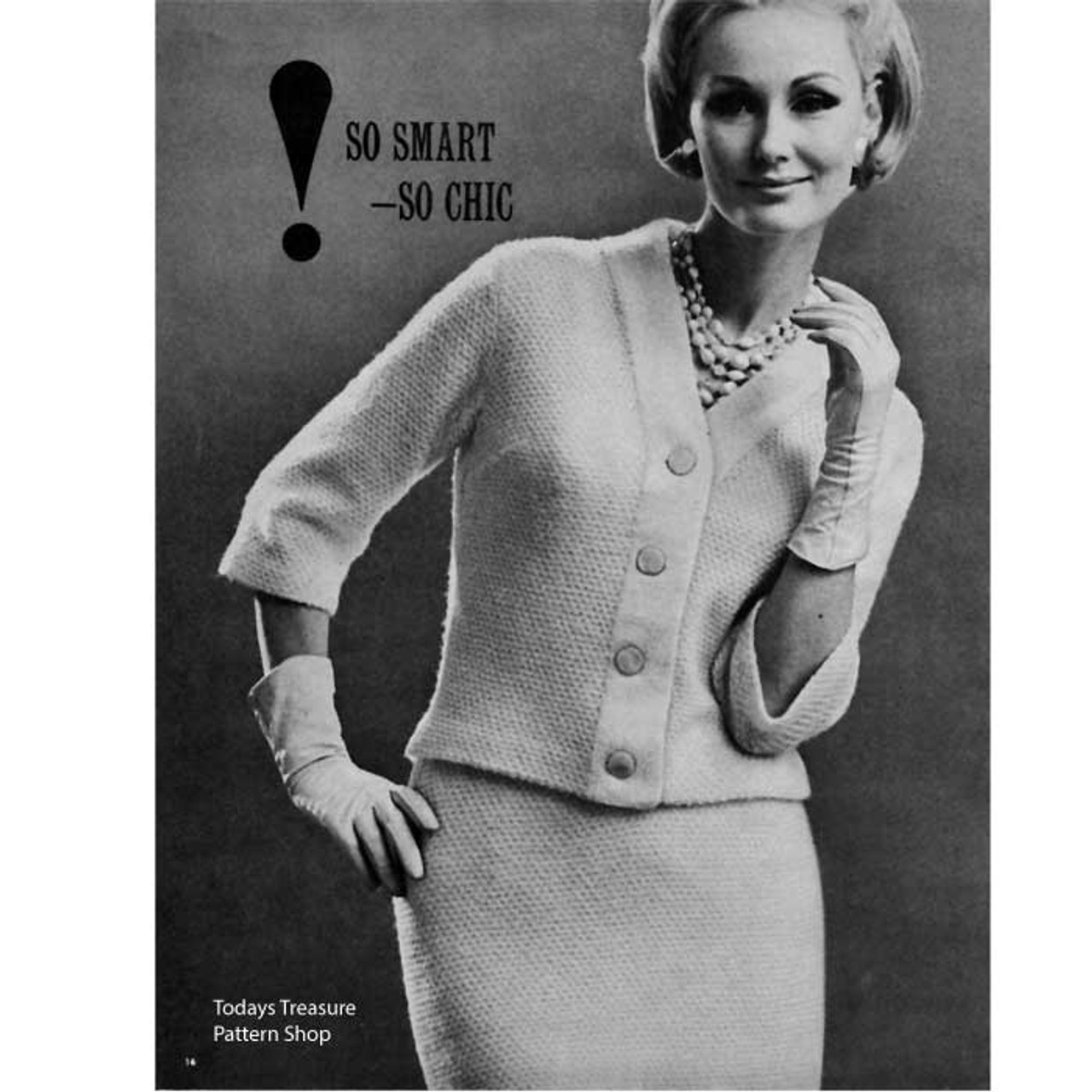 Knitted Classic Two Piece Knitted Suit Pattern