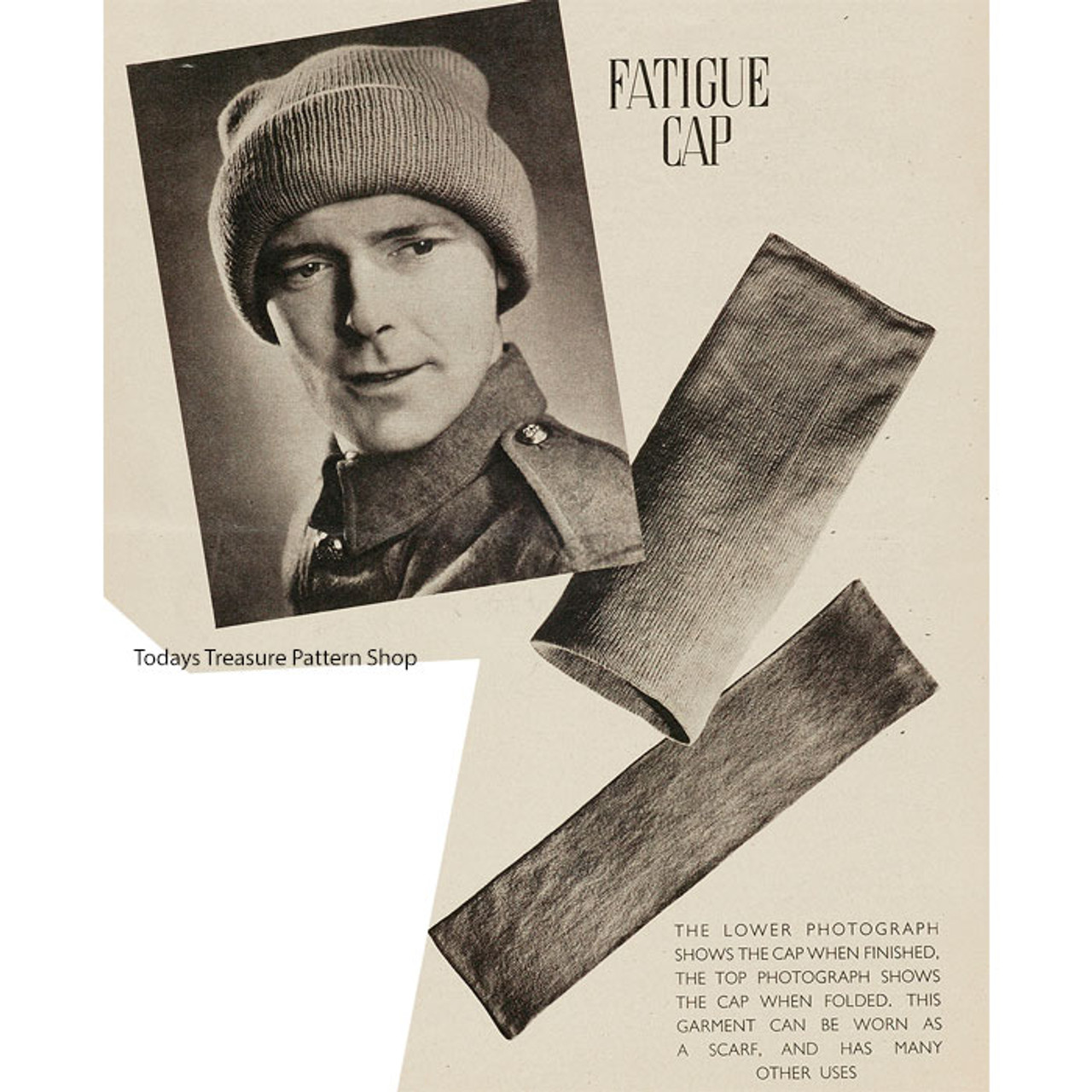 Free Vintage Mans Pullover Cap Pattern