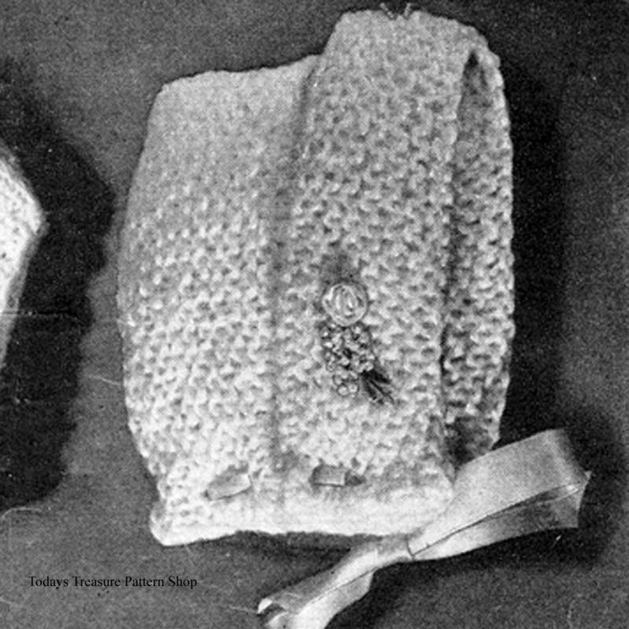 Free Baby Bonnet Knitting Pattern