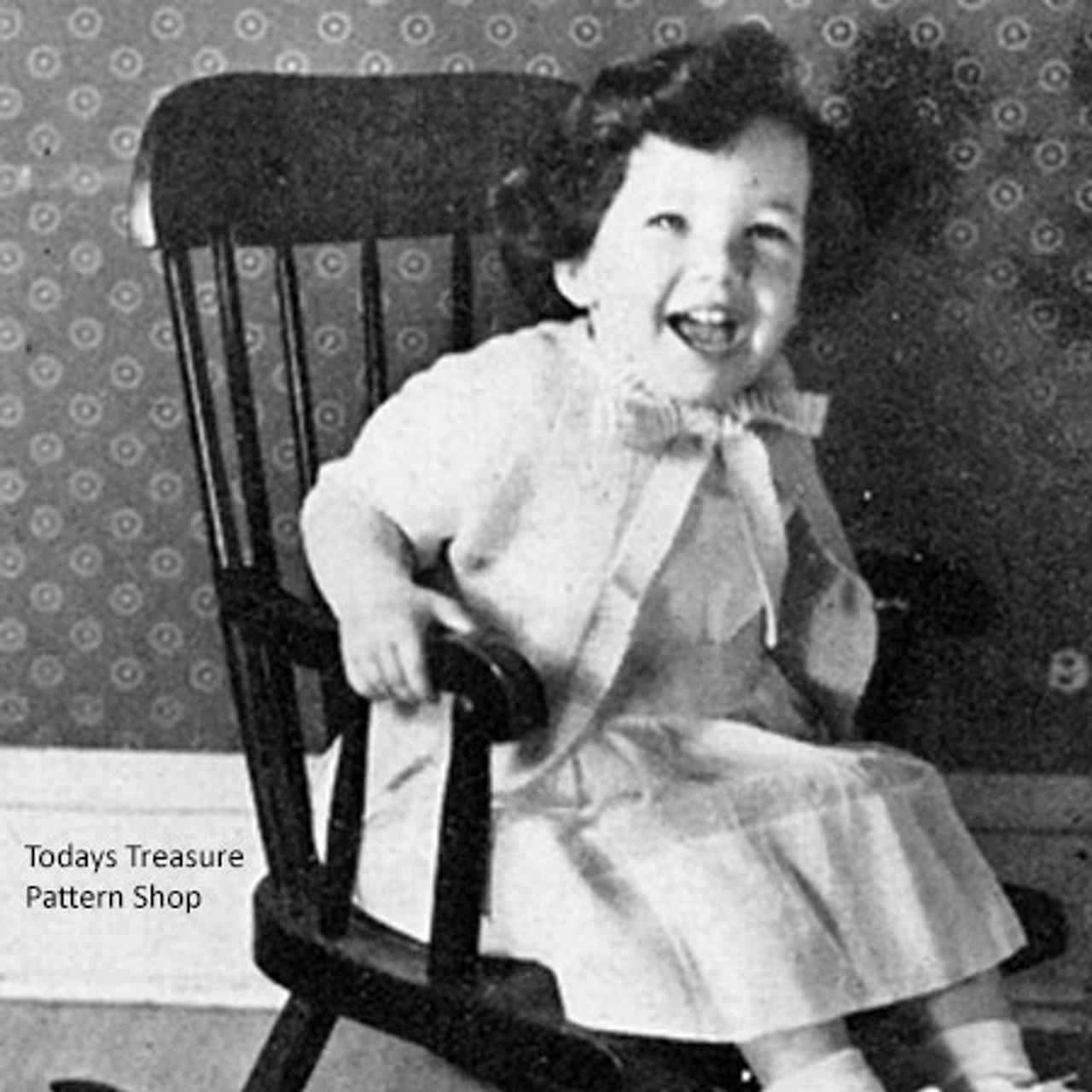 Vintage Toddler Jacket, Free Knitting Pattern