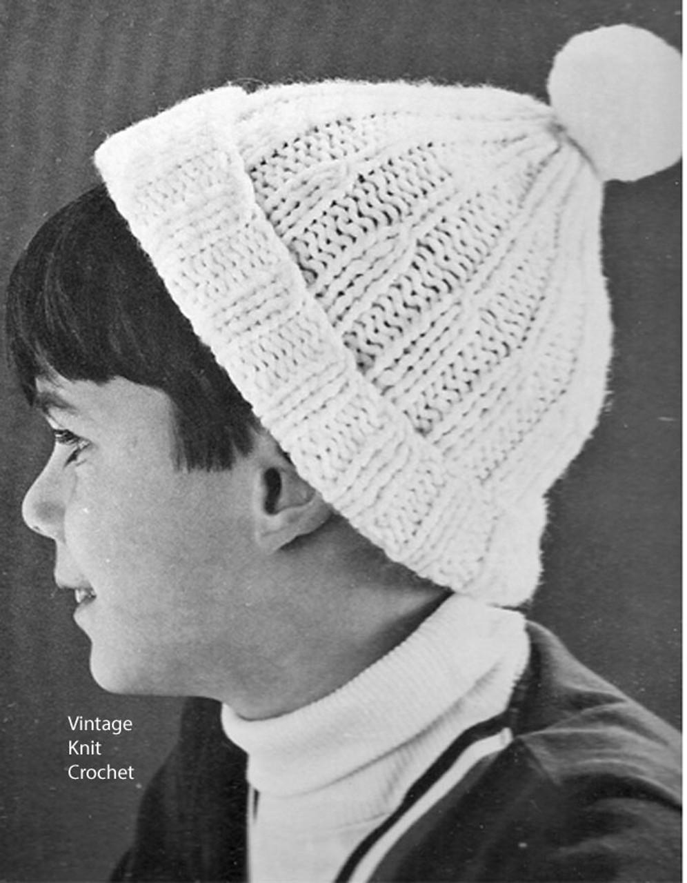 Free Kids Beanie Hat Knitting Pattern