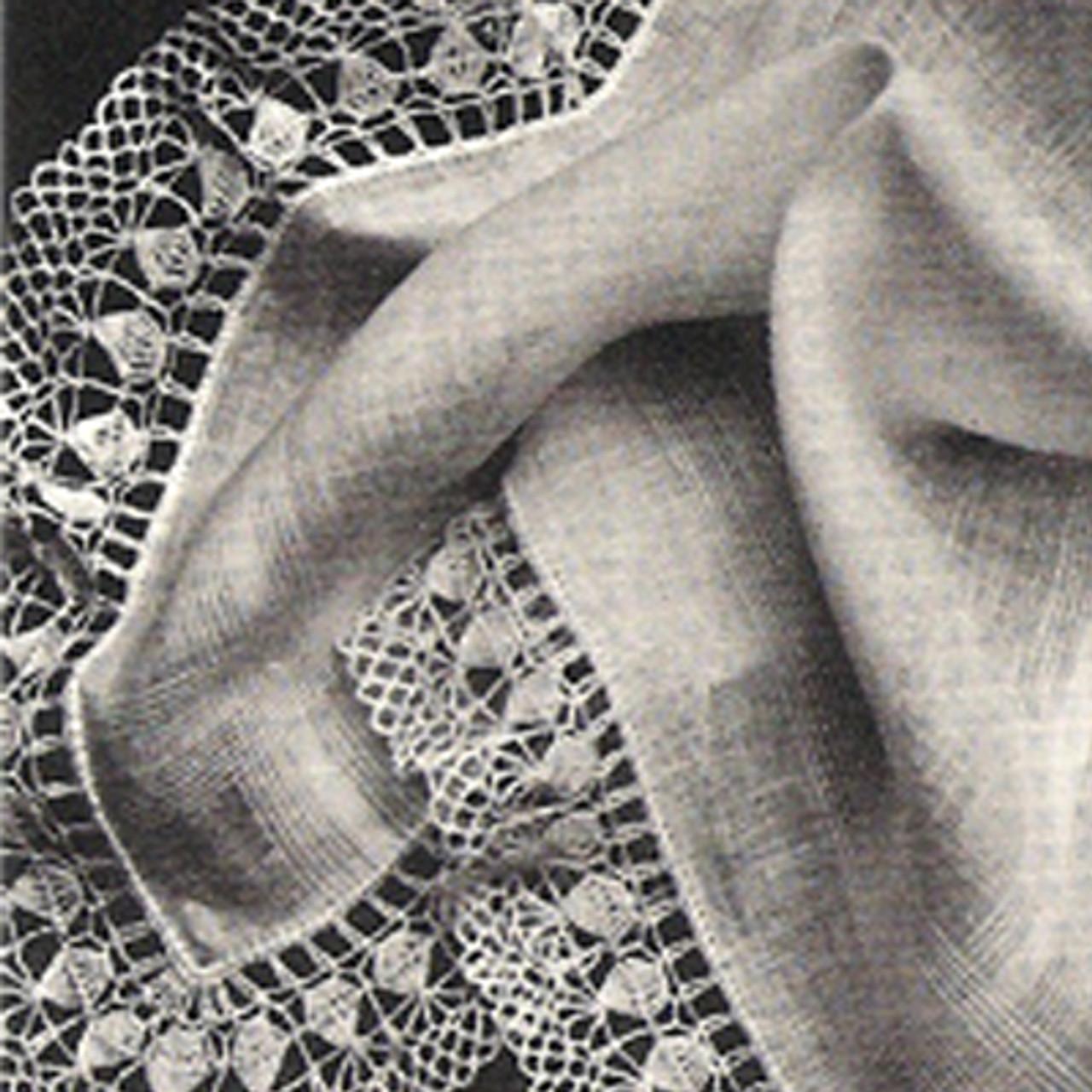 Vintage Rose Petals Crochet Edging Pattern