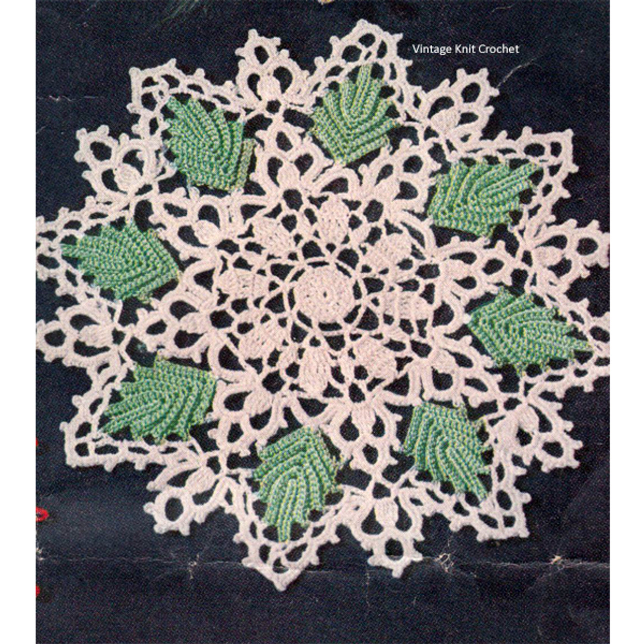 Medium Leaf Crochet Doily Pattern