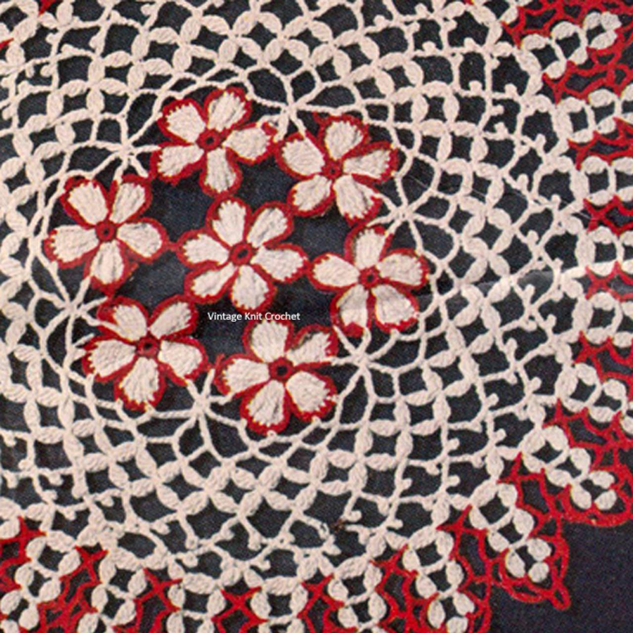 Crochet Doily Pattern, Center Daisy Motif