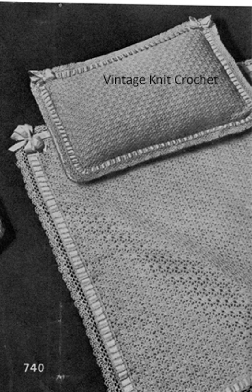 Crochet Baby Blanket and pillow Pattern