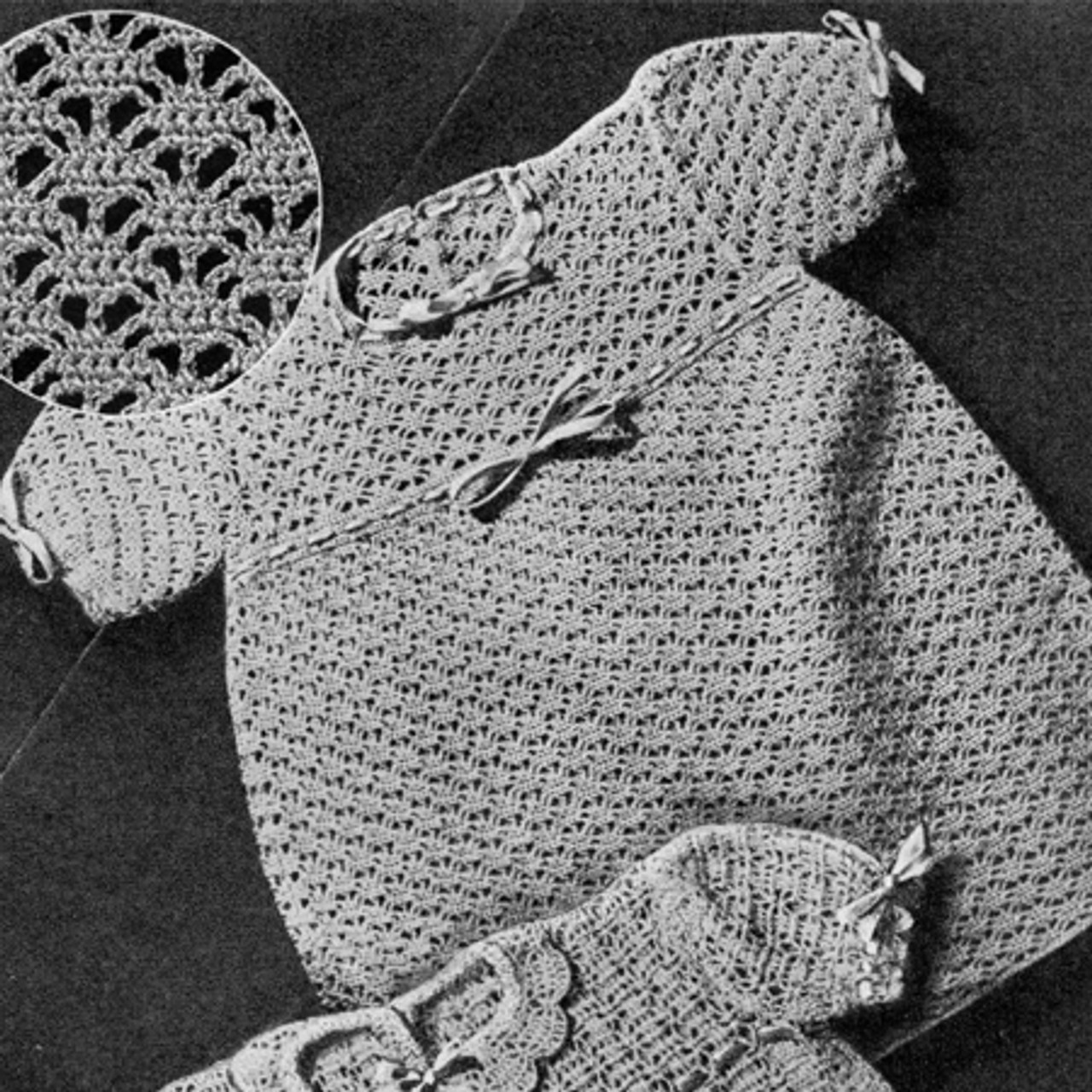 Vintage Crochet Baby Frock Pattern