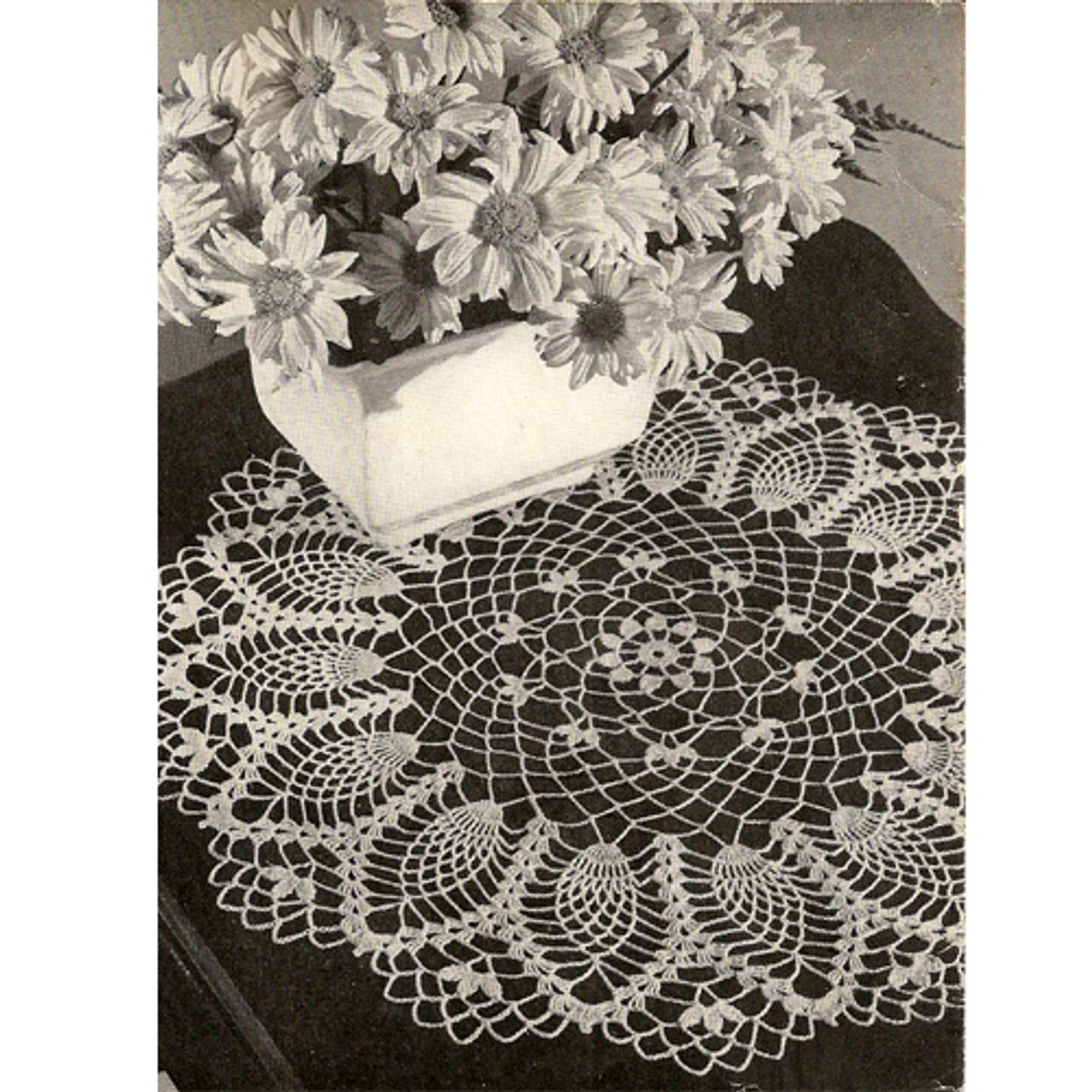Cornfield Crochet Pineapple Doily Pattern