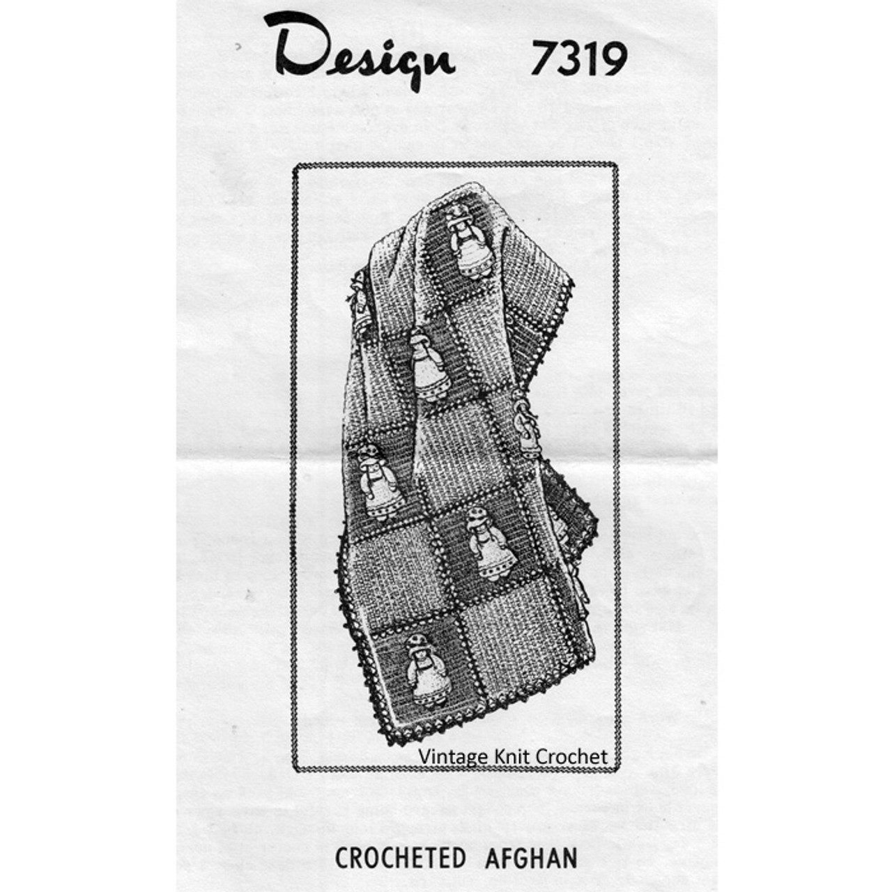 Mail Order Design 7319, Crochet Afghan Pattern