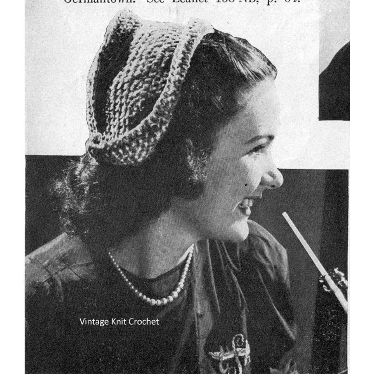 Chenille Crochet Dutch Hat Pattern