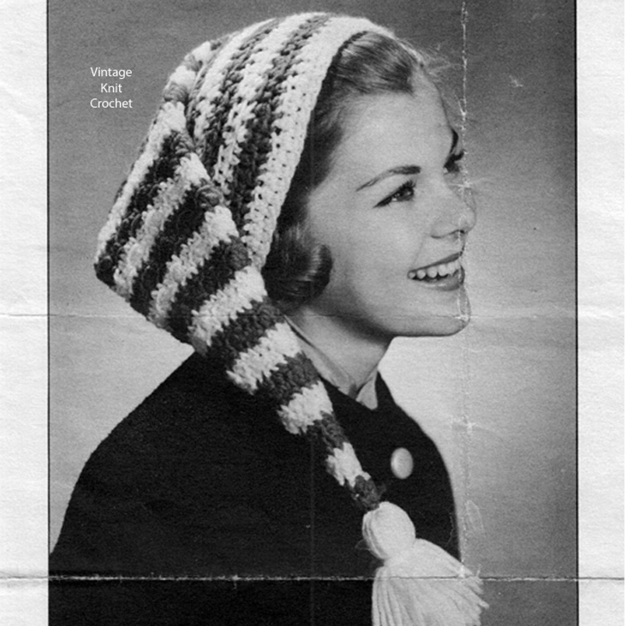 Crochet Striped Stocking Cap Pattern in Knitting Worsted