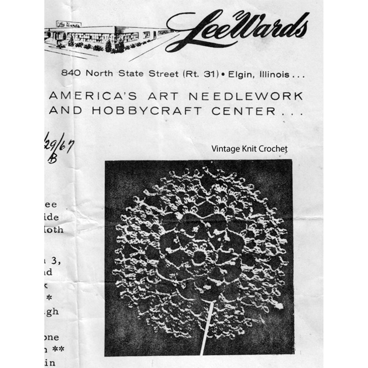 Leewards Crochet Chrysanthemum Tablecloth Pattern