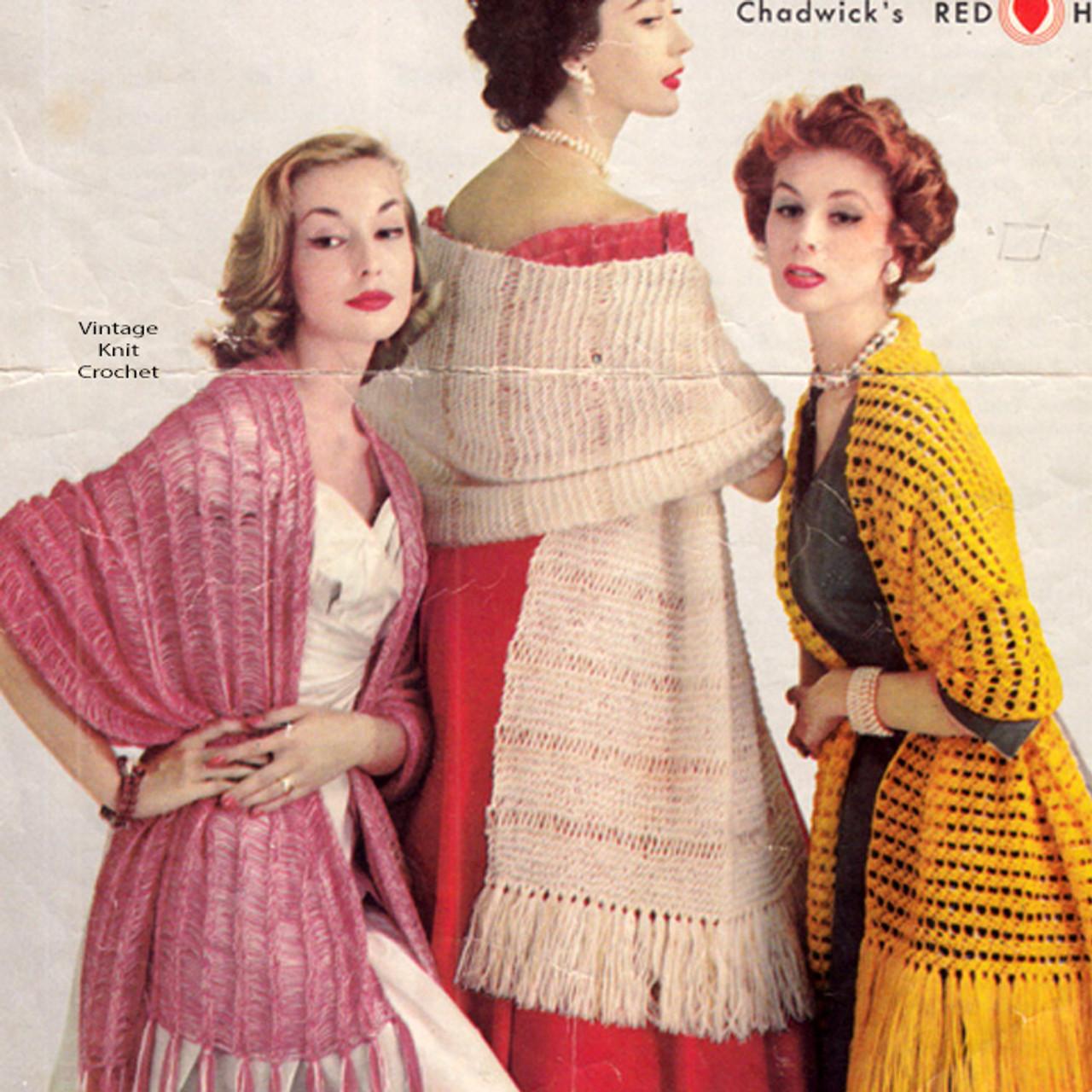 Three Beginner Stoles Patterns for knitting and crochet