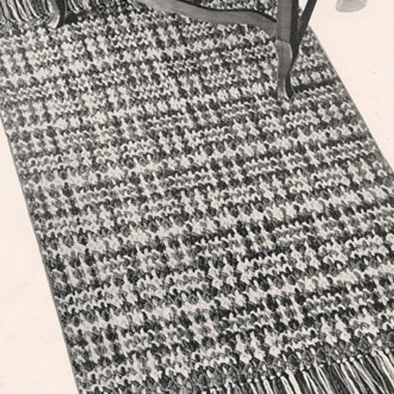 Provincial Crochet Rug Pattern, Fringed with Woven Stripes