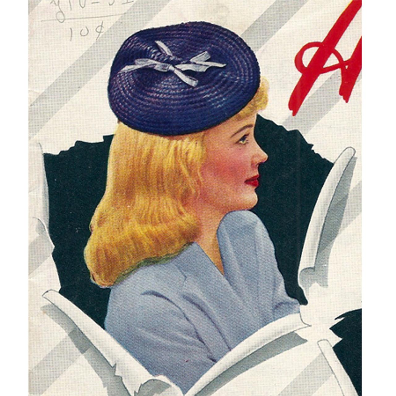 Vintage 1940's crocheted beret pattern
