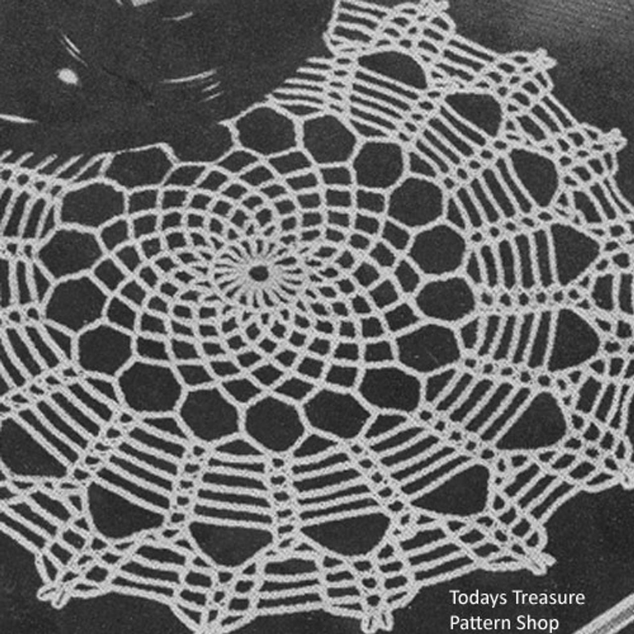 Classic Spiderweb Crochet Doily Pattern