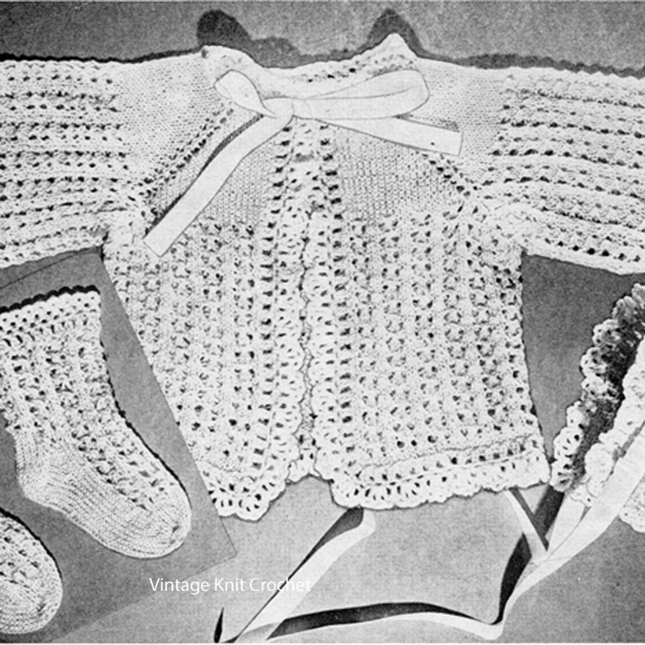 Beginners Crochet Baby Jacket Pattern, Vintage 1945