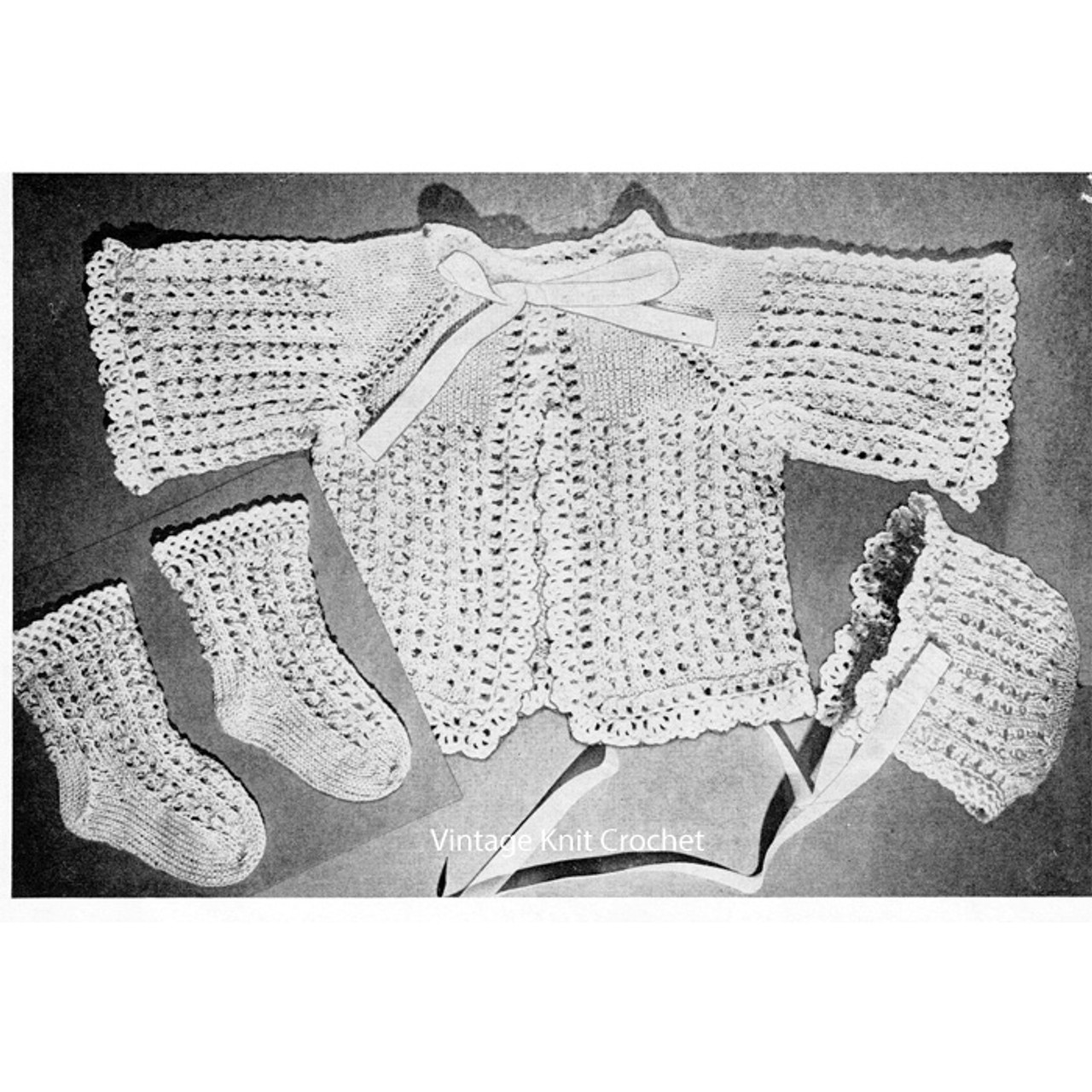 Beginners Crochet Pattern for Infant Baby Set