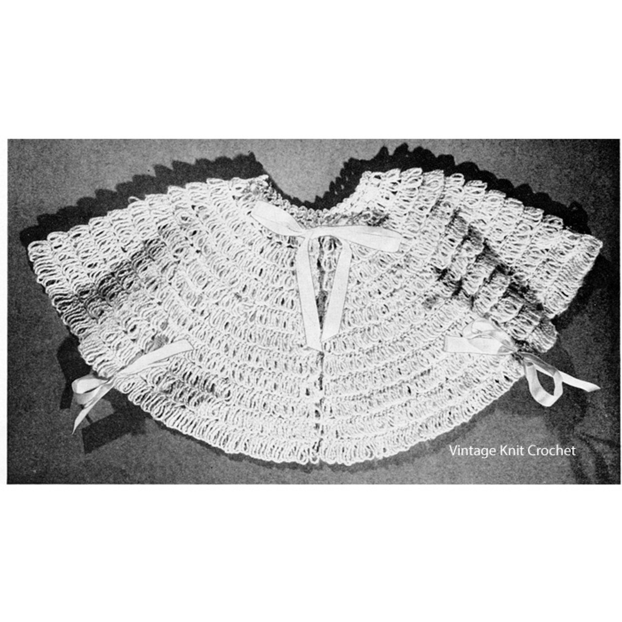 Free Crocheted Baby Nap Sacque Pattern
