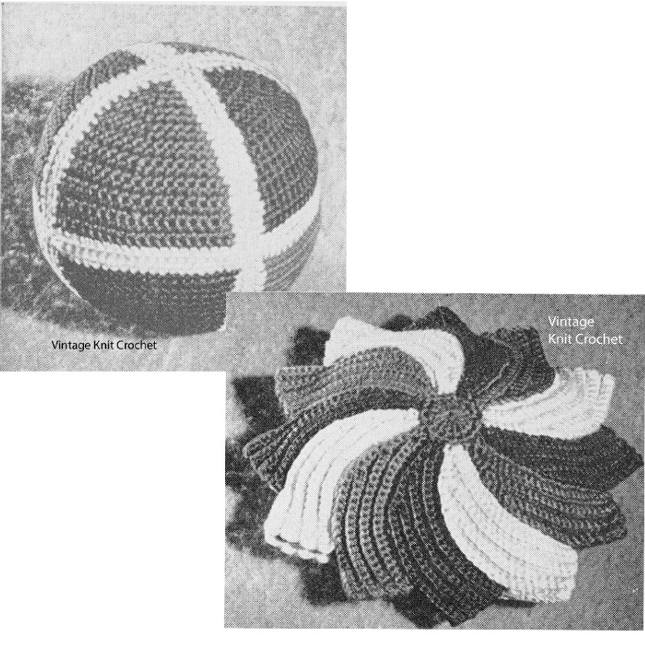 Crochet Stuffed Toys Pattern, Vintage 1945