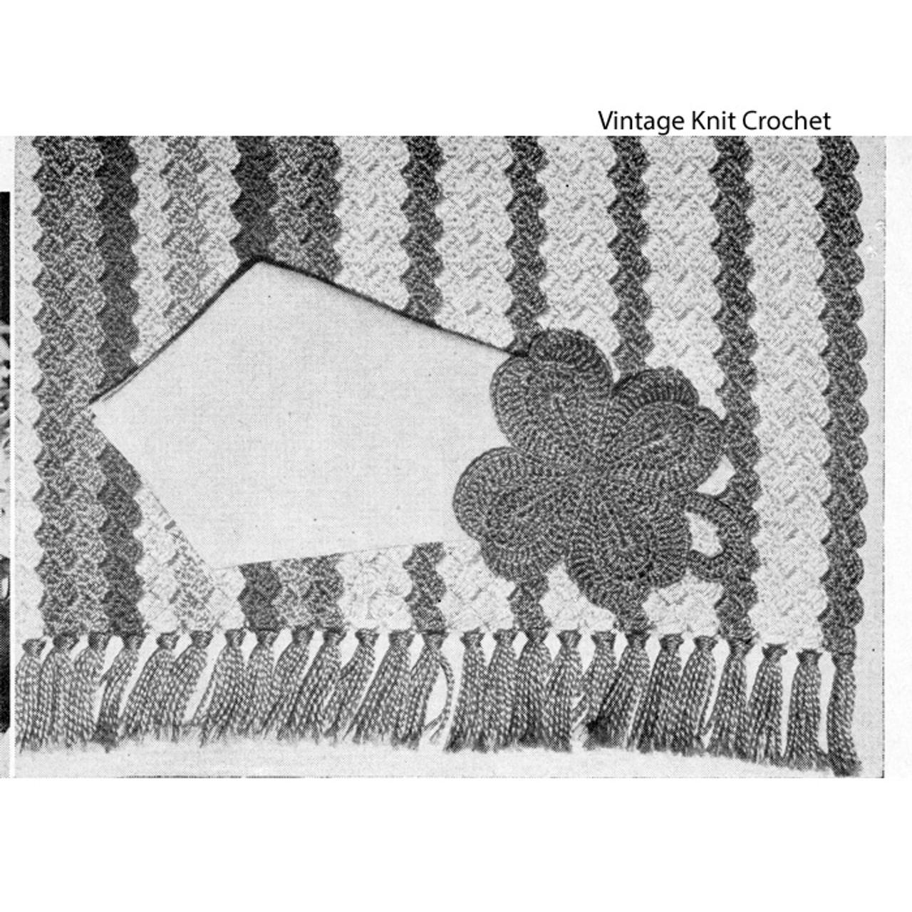 Striped Place Mat Pattern in Shell Stitch