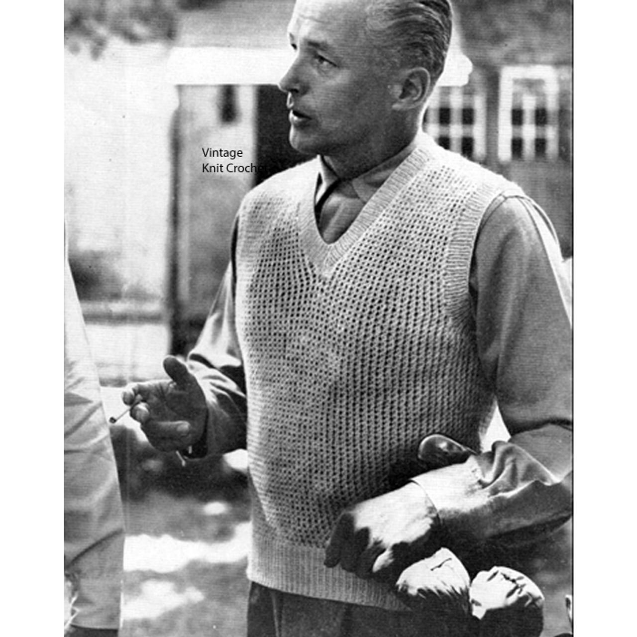 Vintage Pullover Vest Knitting Pattern