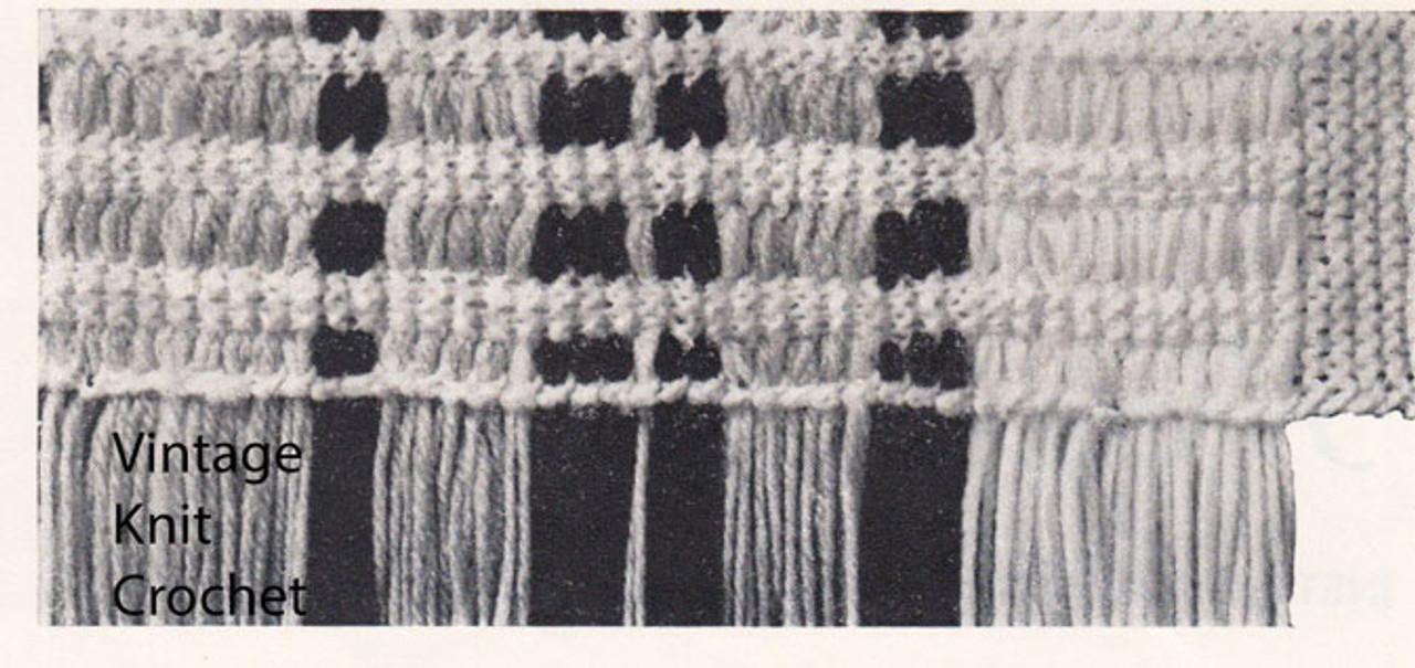 Garter Stitch Afghan Detail