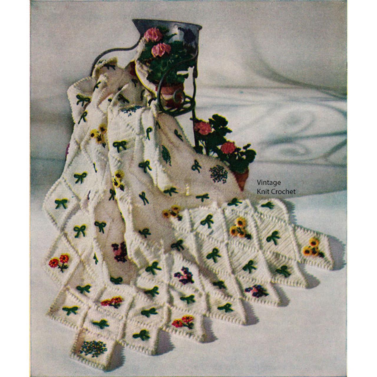 Flower Garden Crocheted Afghan Pattern