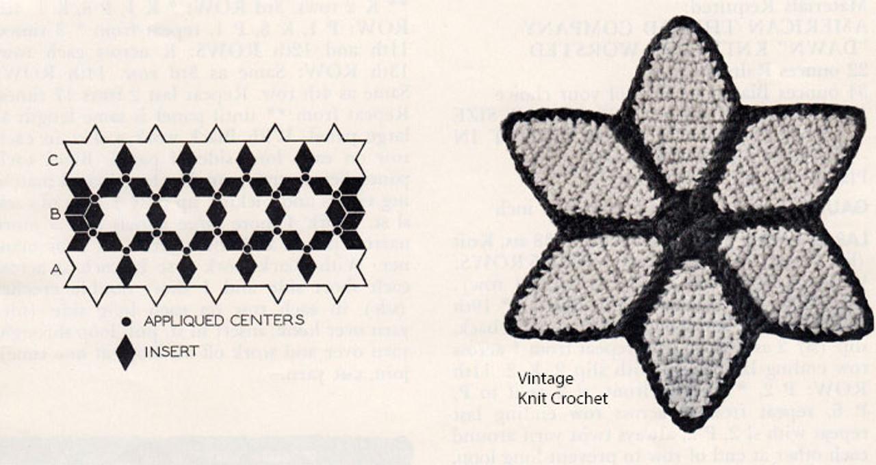 Crochet Star Motif for Afghan Blankets