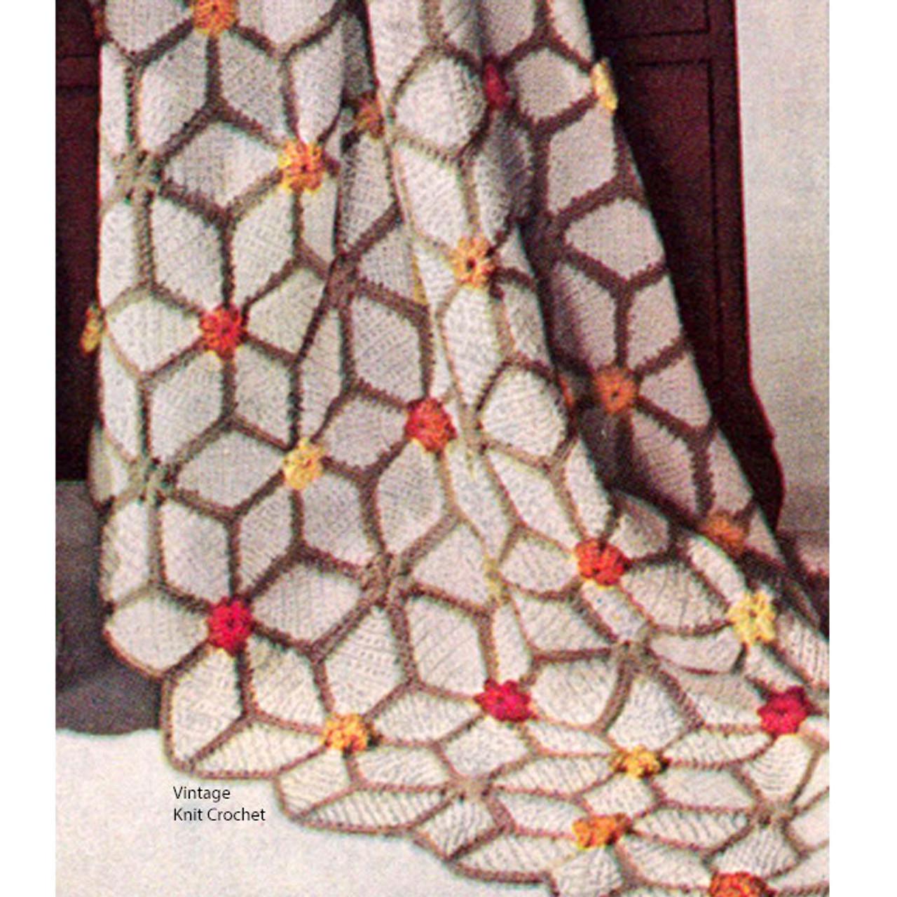 Vintage Crocheted Sparkler Throw Pattern