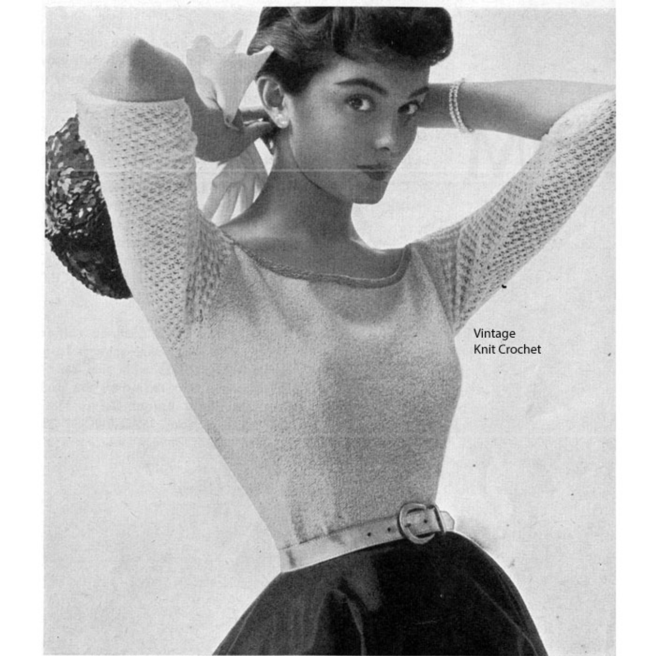 Evening Blouse Knitting Pattern