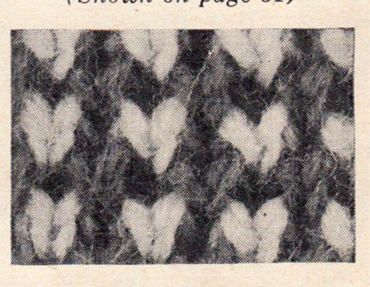 Checked Jacket Knitted Pattern Stitch Illustration