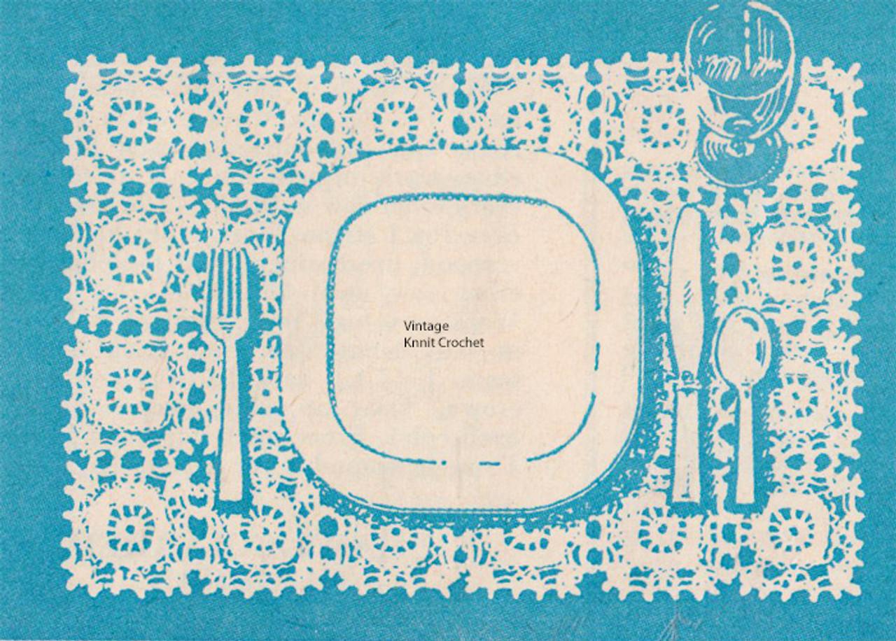 Crocheted Medallion pattern for Mats Scarfs