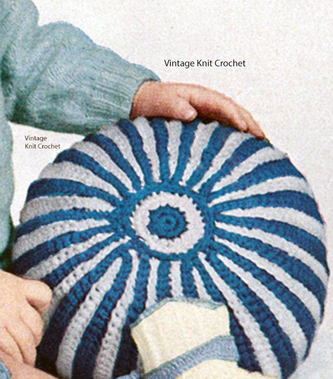 Small Crochet Ball Pattern, Striped Childs Toy
