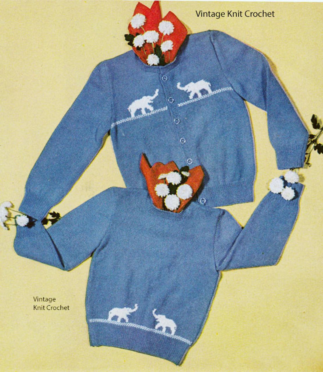 Boys Crochet Cardigan Sweater Pattern