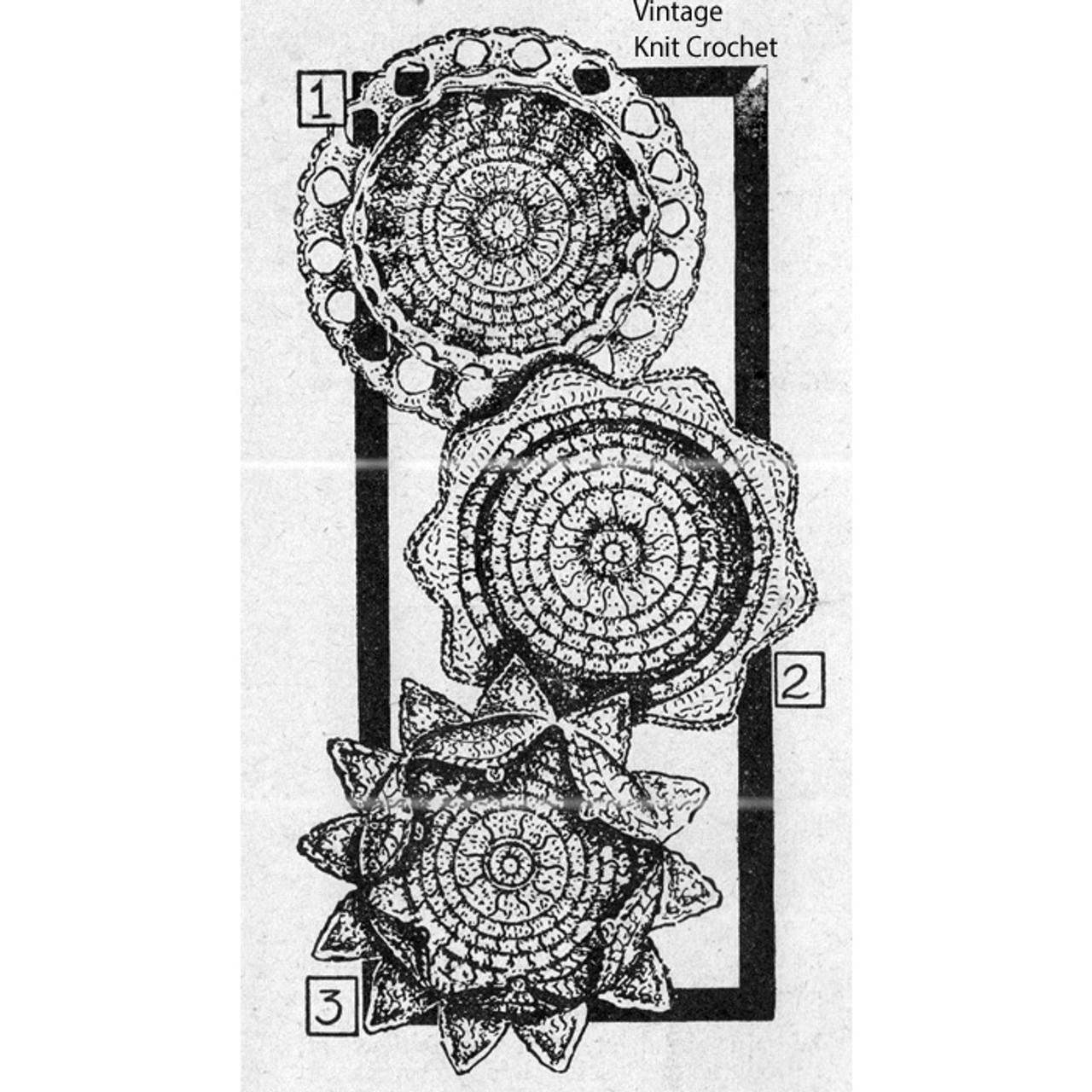 Crocheted Workbasket Coaters Pattern