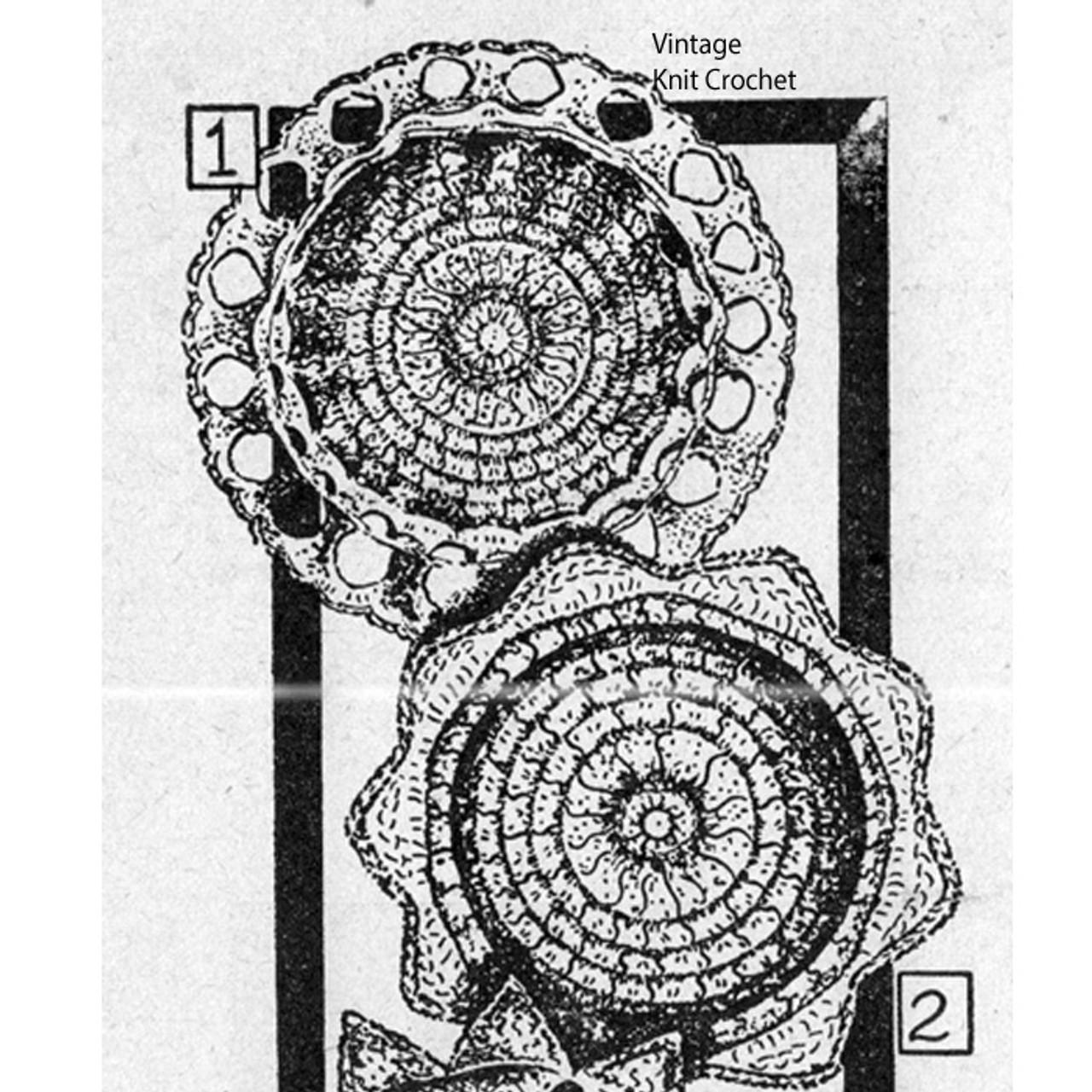 Vintage Crochet Scalloped Coasters Pattern