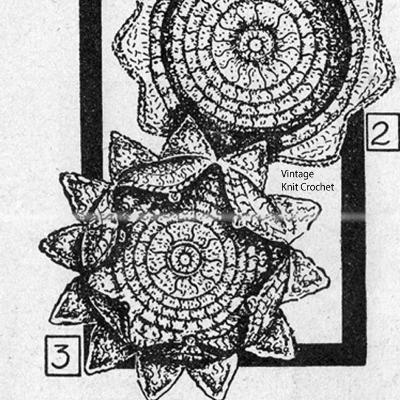 Vintage Star Crochet Coaster Pattern