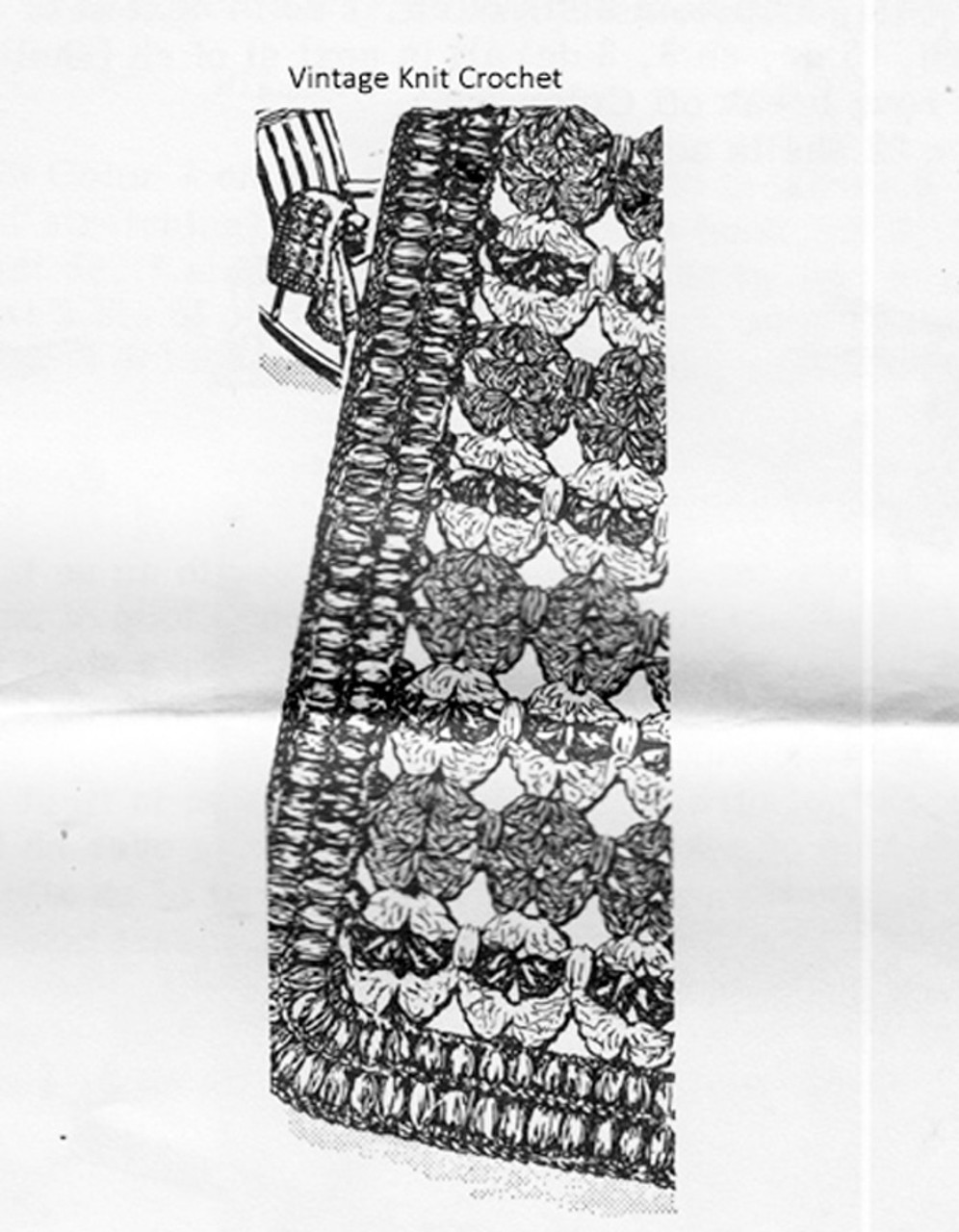 Crochet Afghan Pattern, Shell Medallions, Alice Brooks 7040