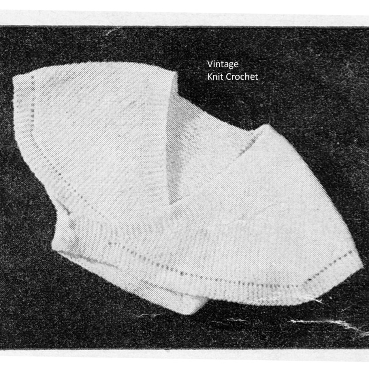 Vintage Knitted Infant Surplice Pattern
