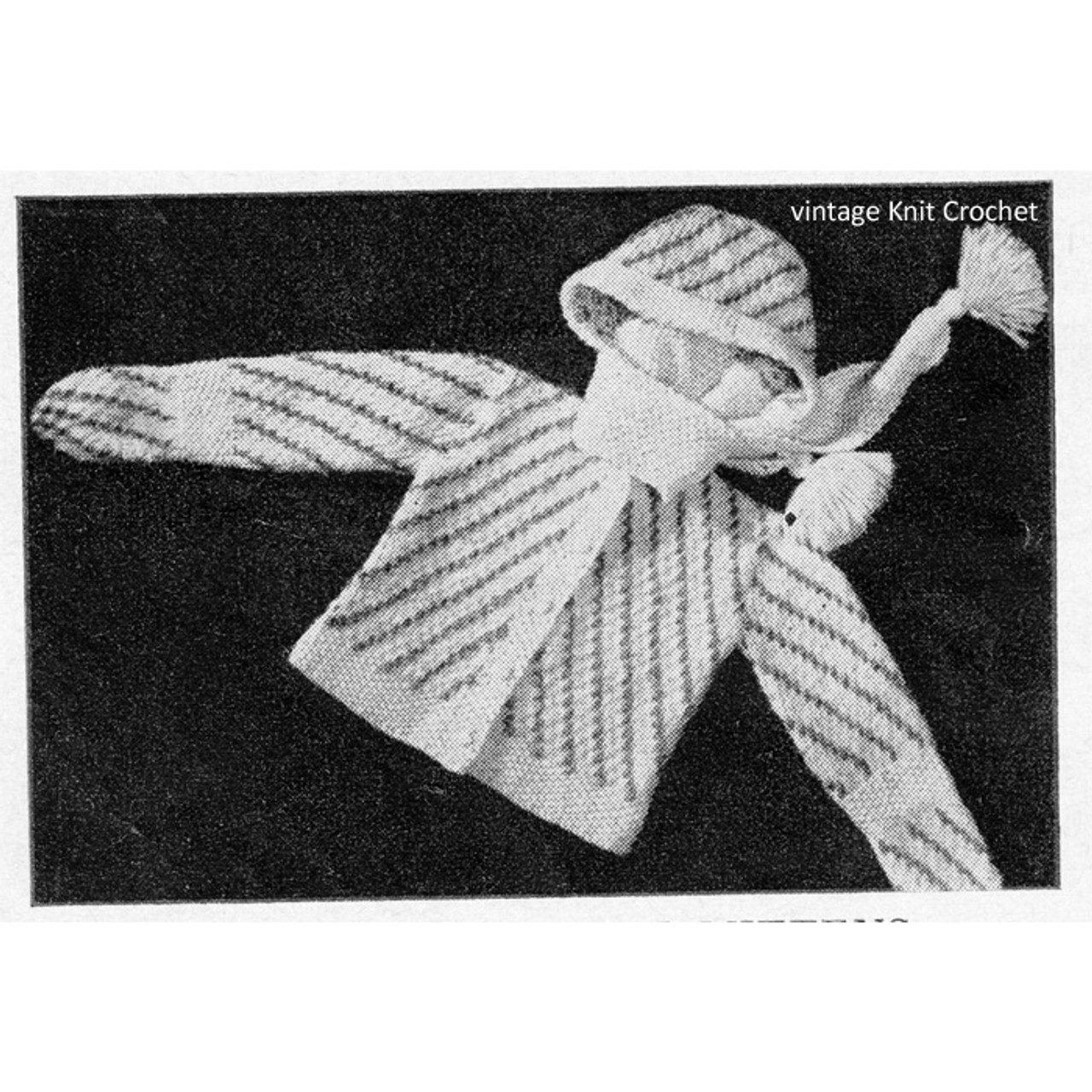 Baby Knitted Cardigan with hood mittens pattern