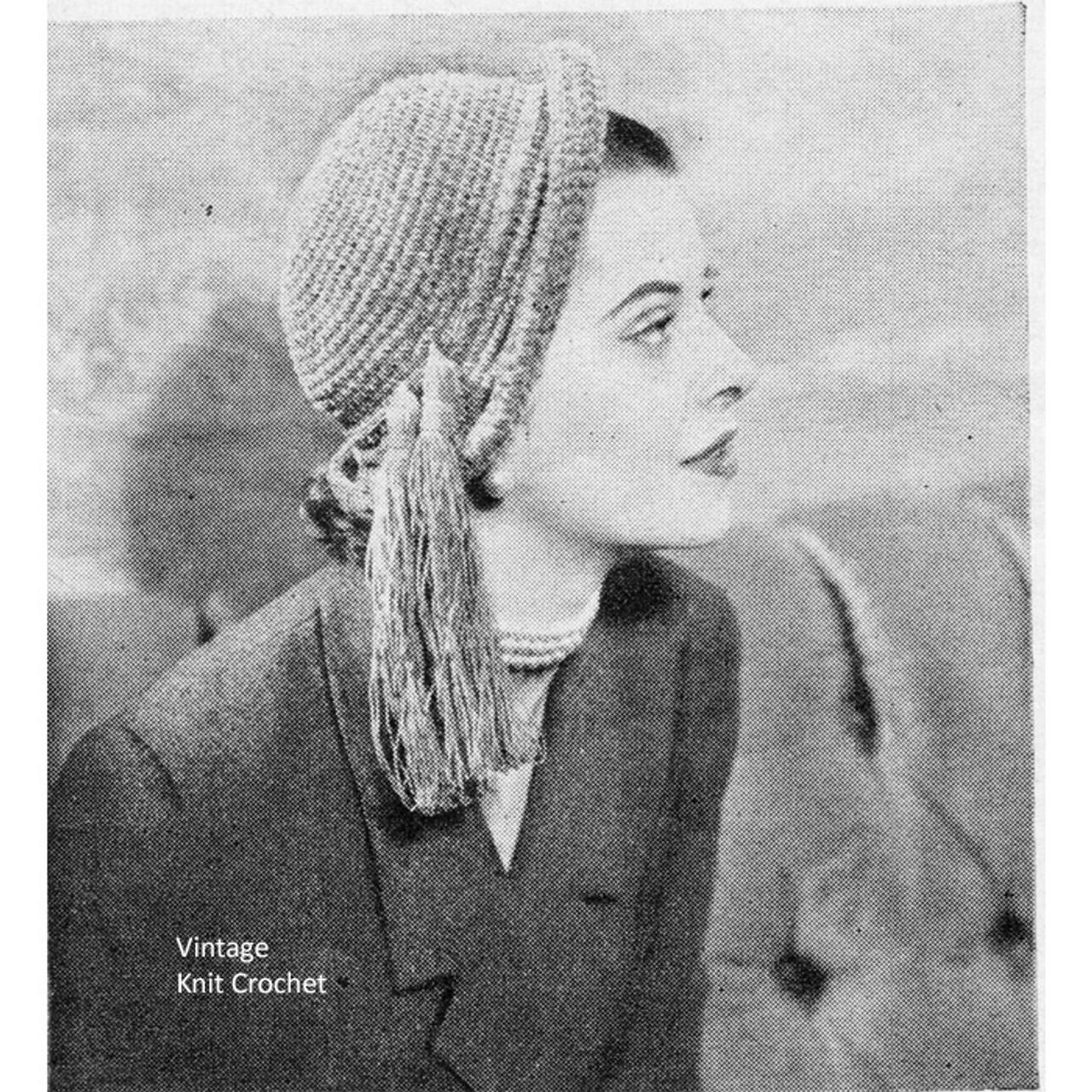 Crochet Chenille Hat Pattern with Tassel