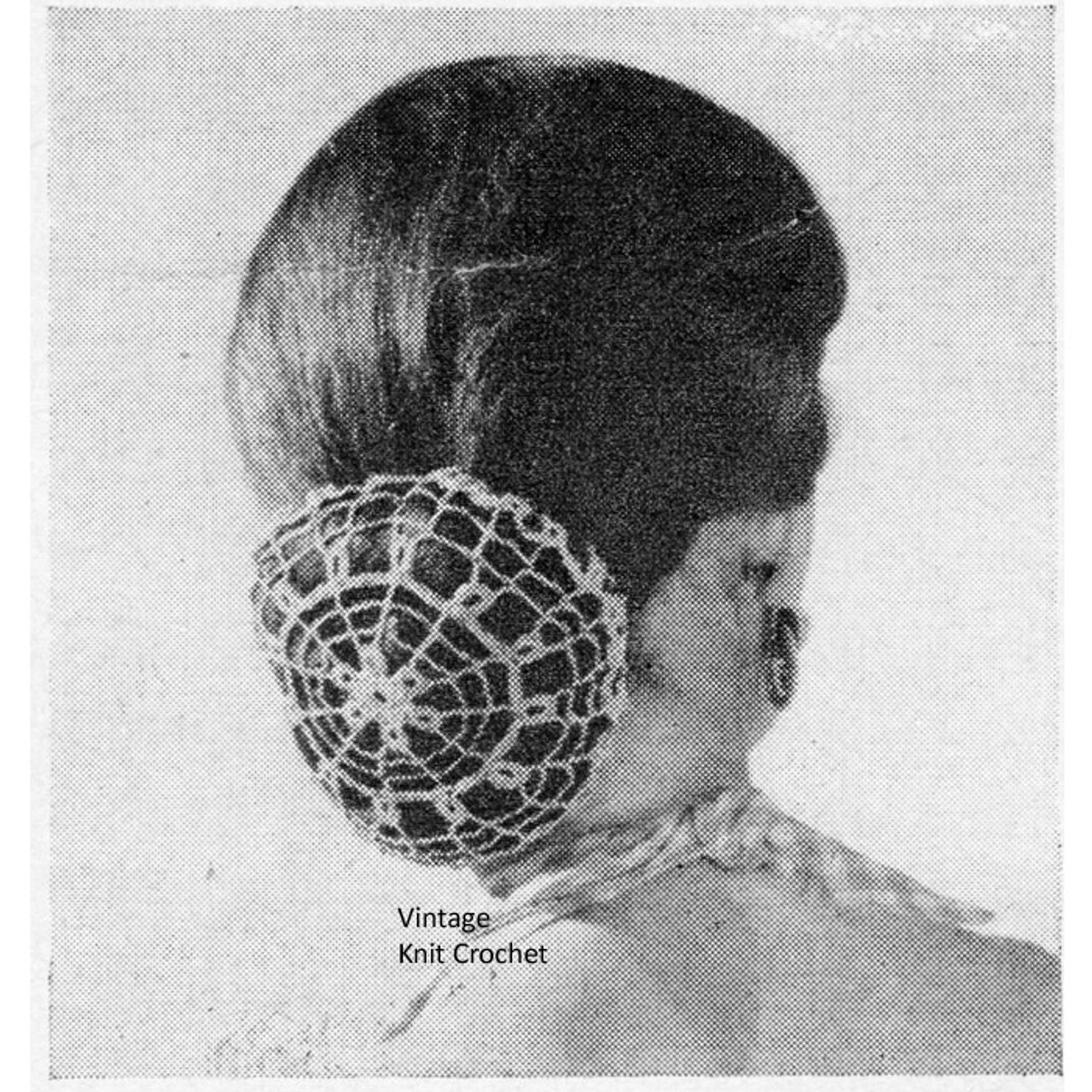 Vintage Lace Hair Snood crochet pattern