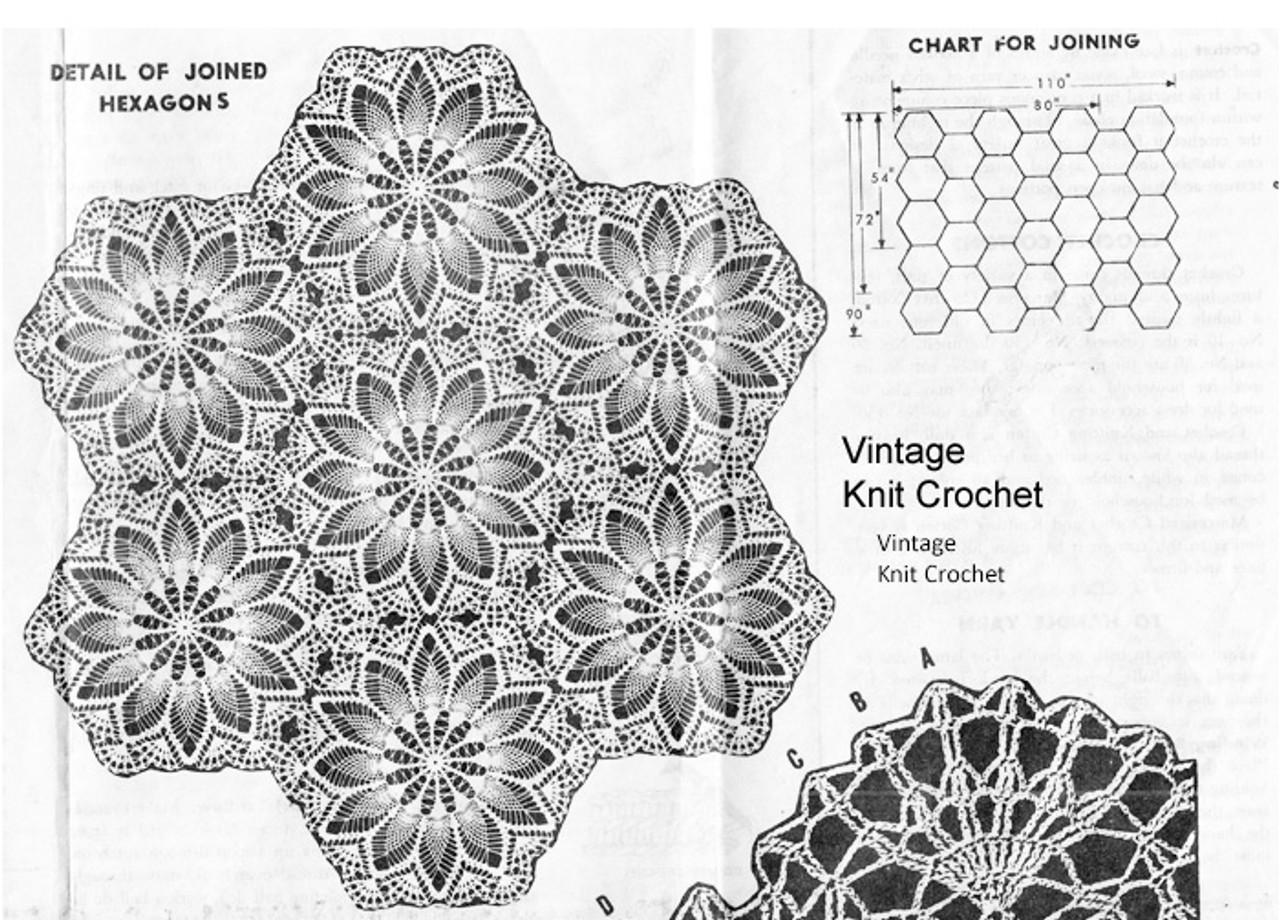 Joined Hexagon Medallion Illustration Chart, Design 874
