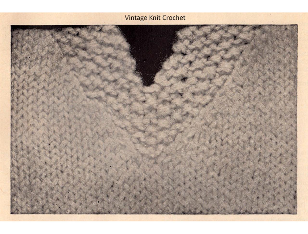 Seed Stitch Knitted Halter Top Pattern Illustraiton